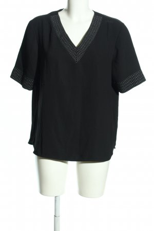s.Oliver Kurzarm-Bluse schwarz Punktemuster Business-Look
