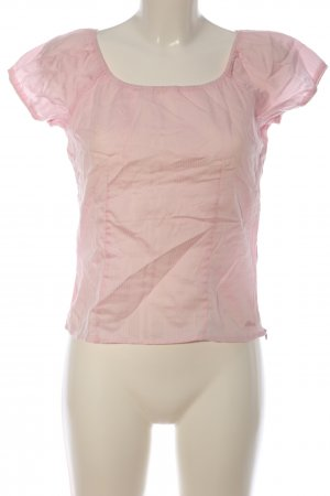 s.Oliver Kurzarm-Bluse pink Streifenmuster Casual-Look