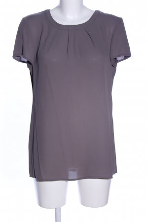 s.Oliver Kurzarm-Bluse silberfarben Casual-Look