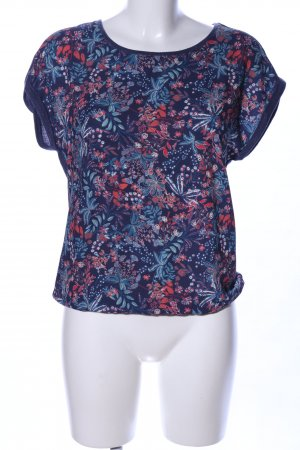 s.Oliver Kurzarm-Bluse Blumenmuster Casual-Look