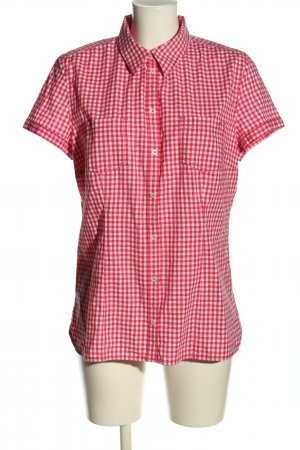 s.Oliver Kurzarm-Bluse rot-weiß Allover-Druck Business-Look
