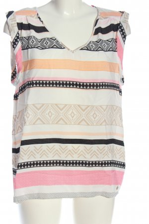 s.Oliver Kurzarm-Bluse grafisches Muster Casual-Look