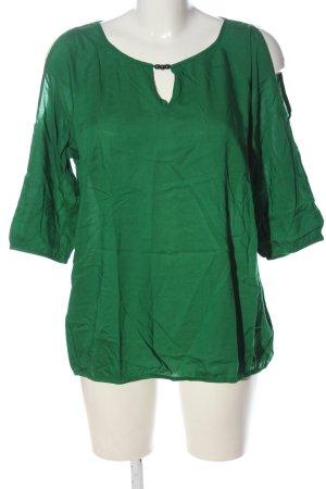 s.Oliver Kurzarm-Bluse grün Casual-Look