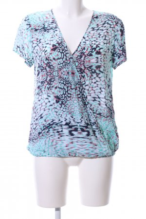 s.Oliver Kurzarm-Bluse abstraktes Muster Casual-Look