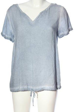 s.Oliver Kurzarm-Bluse blau Casual-Look