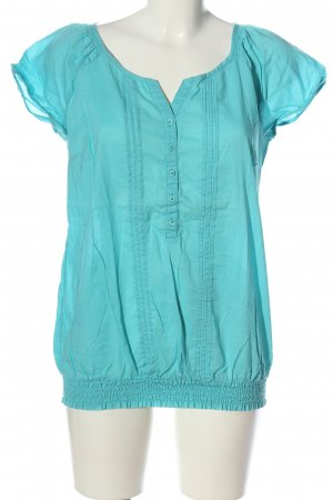 s.Oliver Kurzarm-Bluse türkis Casual-Look
