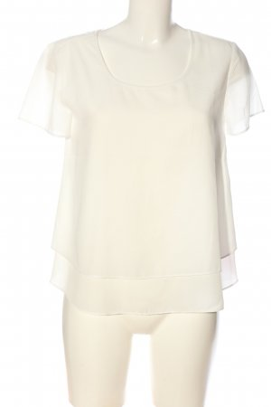 s.Oliver Kurzarm-Bluse weiß Casual-Look