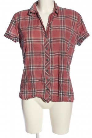 s.Oliver Kurzarm-Bluse Karomuster Casual-Look
