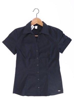 s.Oliver Kurzarmbluse Größe 34 schwarz aus Baumwolle