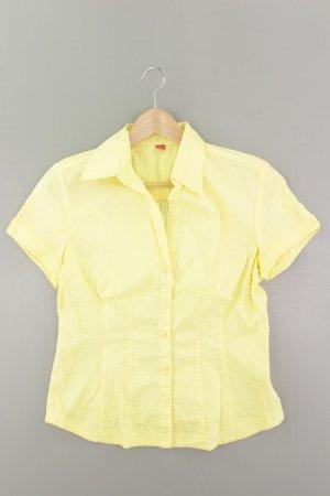 s.Oliver Kurzarmbluse Größe 40 gelb aus Baumwolle