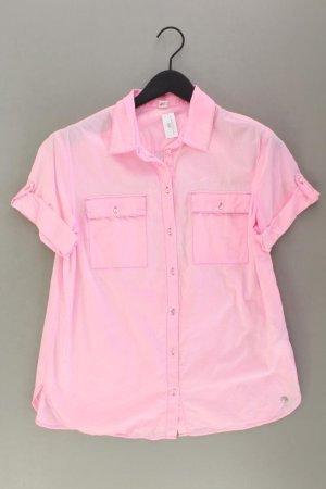 s.Oliver Kurzarmbluse Größe 40 pink aus Baumwolle