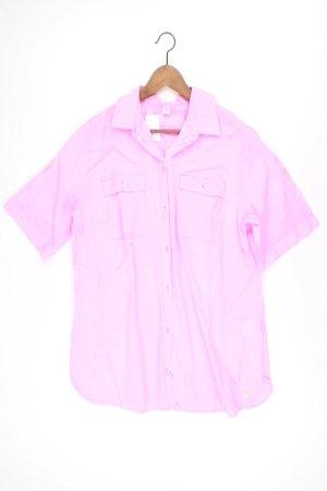s.Oliver Kurzarmbluse Größe 46 pink aus Baumwolle