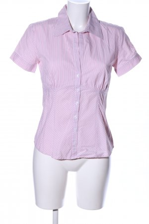 s.Oliver Short Sleeve Shirt pink-white striped pattern business style