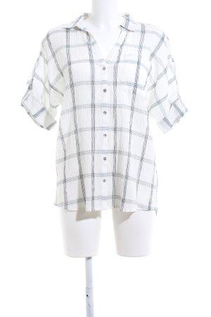 s.Oliver Shirt met korte mouwen wit-zwart geruite print zakelijke stijl