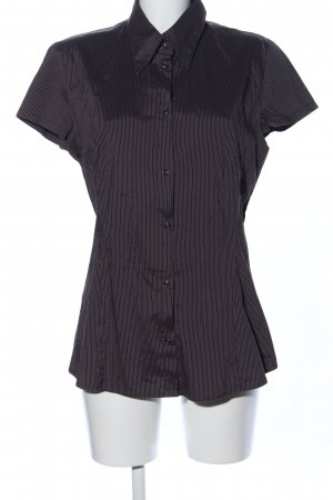 s.Oliver Short Sleeve Shirt black striped pattern casual look