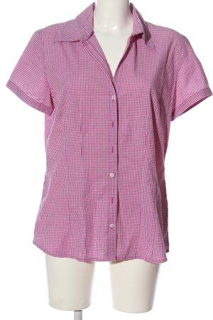 s.Oliver Kurzarmhemd pink Allover-Druck klassischer Stil