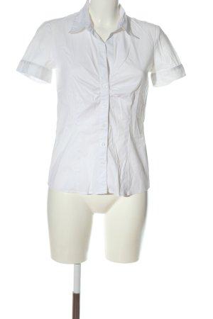 s.Oliver Koszula z krótkim rękawem biały W stylu biznesowym