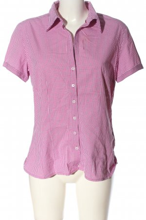 s.Oliver Kurzarmhemd pink-weiß Allover-Druck Casual-Look