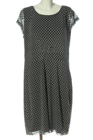 s.Oliver Vestido de manga corta negro-blanco puro look casual