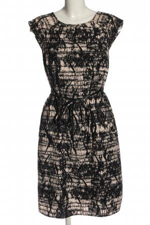 s.Oliver Kurzarmkleid schwarz-creme abstraktes Muster Elegant