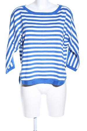 s.Oliver Kurzarmpullover blau-weiß Casual-Look
