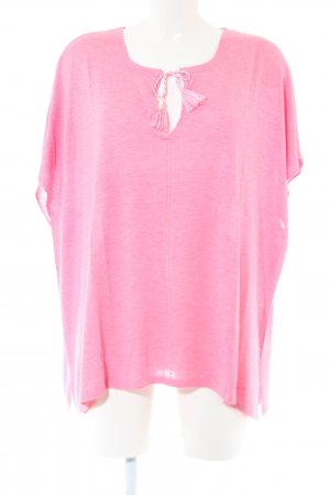 s.Oliver Kurzarmpullover pink meliert Casual-Look