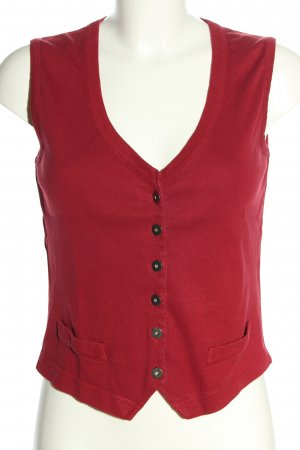 s.Oliver Short Sleeve Knitted Jacket red casual look