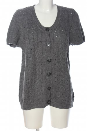 s.Oliver Short Sleeve Knitted Jacket light grey weave pattern casual look