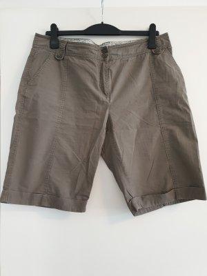 S.Oliver kurze Hose, knielange Shorts, Cargohose, khaki, Gr. 44