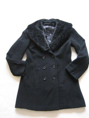 s.Oliver Manteau en laine noir laine