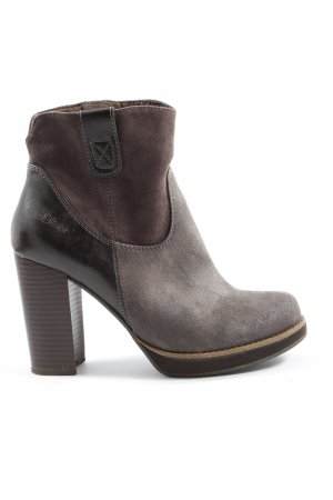 s.Oliver Short Boots brown-light grey casual look