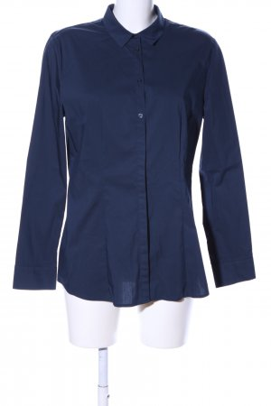 s.Oliver Langarm-Bluse blau Business-Look