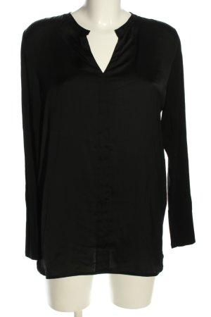 s.Oliver Langarm-Bluse schwarz Elegant