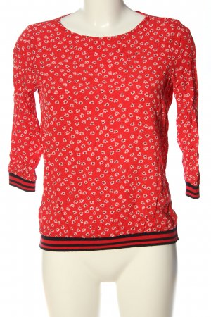 s.Oliver Langarm-Bluse rot Allover-Druck Casual-Look