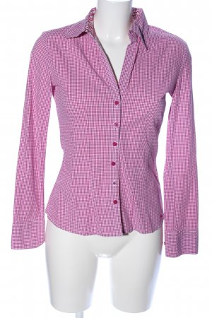 s.Oliver Langarm-Bluse pink-weiß Allover-Druck Casual-Look