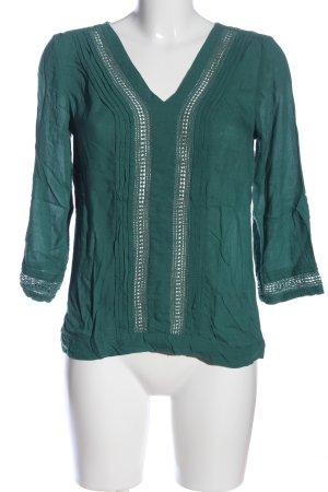 s.Oliver Langarm-Bluse grün Casual-Look