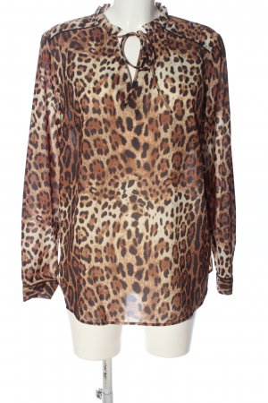 s.Oliver Langarm-Bluse Leomuster Casual-Look