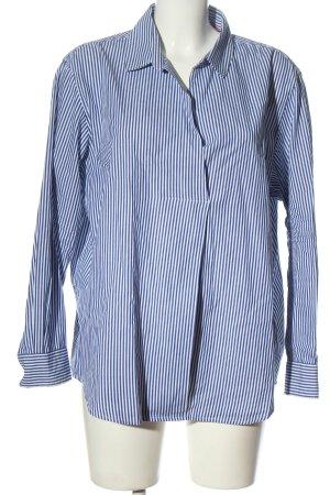 s.Oliver Langarm-Bluse weiß-blau Streifenmuster Elegant