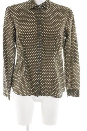 s.Oliver Langarm-Bluse khaki-blassgelb Allover-Druck klassischer Stil