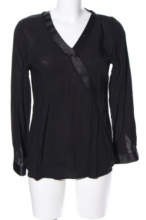 s.Oliver Langarm-Bluse schwarz Casual-Look