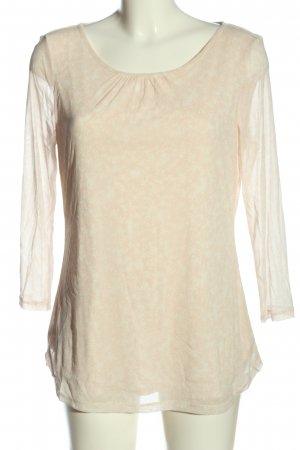 s.Oliver Langarm-Bluse creme Allover-Druck Casual-Look
