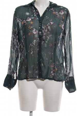 s.Oliver Langarm-Bluse khaki Blumenmuster Casual-Look