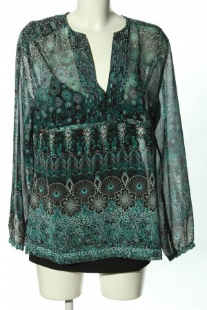 s.Oliver Langarm-Bluse Allover-Druck Casual-Look