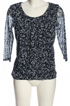 s.Oliver Langarm-Bluse schwarz-weiß abstraktes Muster Casual-Look