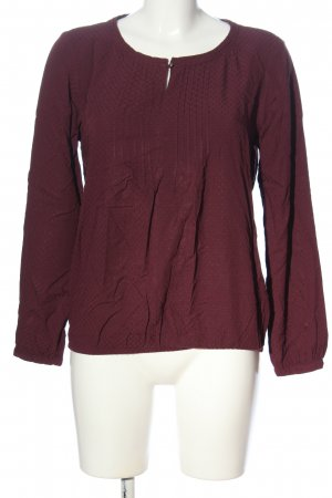 s.Oliver Langarm-Bluse rot Punktemuster Casual-Look