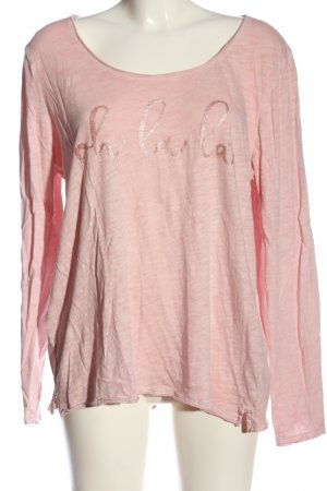 s.Oliver Langarm-Bluse pink meliert Casual-Look
