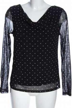 s.Oliver Langarm-Bluse schwarz-weiß Punktemuster Casual-Look