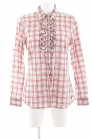 s.Oliver Langarm-Bluse rot-weiß Allover-Druck Casual-Look
