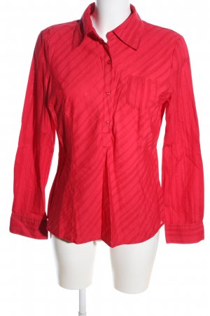 s.Oliver Langarm-Bluse rot Streifenmuster Business-Look