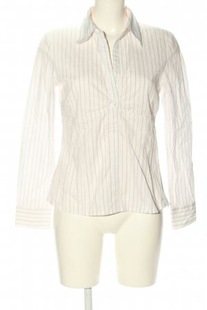 s.Oliver Langarm-Bluse weiß-lila Allover-Druck Business-Look